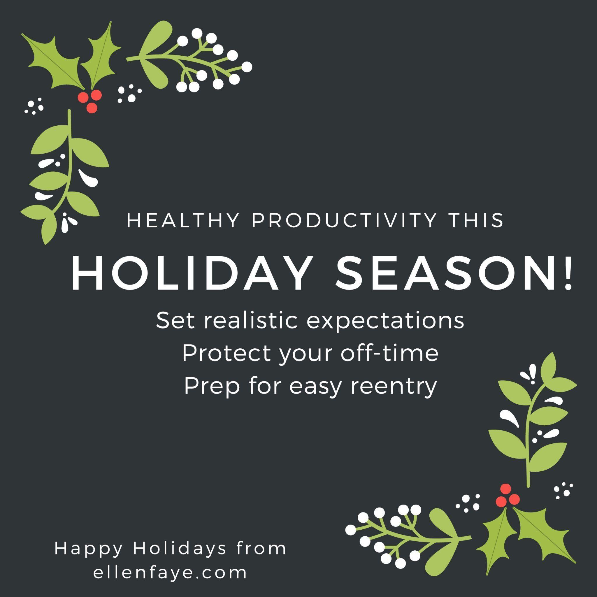 healthy productivity